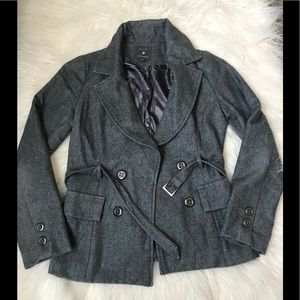 Forever 21 grey peacoat size M